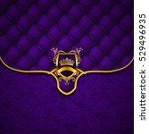 elegant golden shield with gold ...