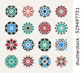 geometric emblems set. vector... | Shutterstock .eps vector #529497751
