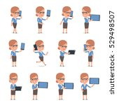 set of smart and cute character ... | Shutterstock .eps vector #529498507
