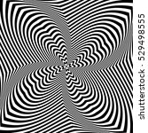 abstract op art design. torsion ... | Shutterstock .eps vector #529498555