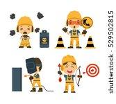 set of construction worker ... | Shutterstock .eps vector #529502815