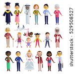 people of different ages and... | Shutterstock .eps vector #529508527