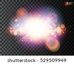 shining star  the sun particles ... | Shutterstock .eps vector #529509949