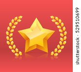 3d golden yellow star. award... | Shutterstock .eps vector #529510699