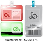 gears. vector id cards.