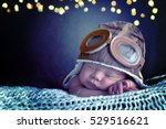 sweet little baby dreaming of... | Shutterstock . vector #529516621