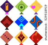 kite design collection vector... | Shutterstock .eps vector #529518919