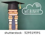 funny webinar education concept ... | Shutterstock . vector #529519591