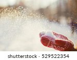 Flying Snowflakes From Red...