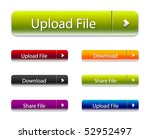 vector web 2.0 buttons set for | Shutterstock .eps vector #52952497