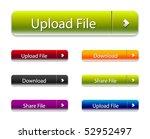 vector web 2.0 buttons set for | Shutterstock .eps vector #52952497