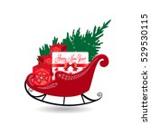 vector illustration. santa... | Shutterstock .eps vector #529530115