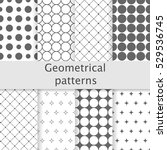 8 different classic geometric... | Shutterstock .eps vector #529536745
