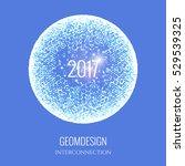 happy new  year 2017. vector...   Shutterstock .eps vector #529539325