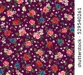 folk floral | Shutterstock . vector #529540261