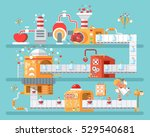 stock vector vertical... | Shutterstock .eps vector #529540681
