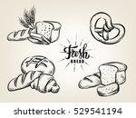 Hand Drawn Decorative Bread...