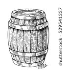 vector hand drawing wood barrel ... | Shutterstock .eps vector #529541227