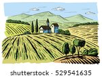 vector illustration landscape... | Shutterstock .eps vector #529541635