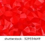 red abstract geometric rumpled... | Shutterstock .eps vector #529554649