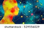 silhouette of a man's head....   Shutterstock . vector #529556029
