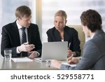 group of three business...   Shutterstock . vector #529558771