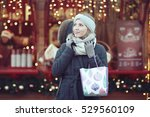 woman urban concept of holiday... | Shutterstock . vector #529560109