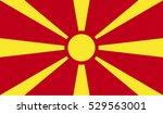 flag of macedonia vector...   Shutterstock .eps vector #529563001