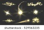 golden glitter bokeh lights and ...   Shutterstock .eps vector #529563235