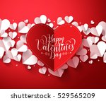 valentines background concept... | Shutterstock .eps vector #529565209