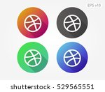 colored icon of buscketball...   Shutterstock .eps vector #529565551