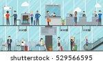 airport terminal  business... | Shutterstock .eps vector #529566595