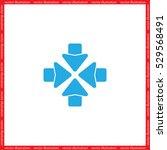 four arrows vector illustration   Shutterstock .eps vector #529568491