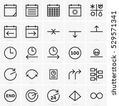 time concept icons | Shutterstock .eps vector #529571341