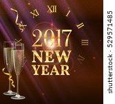 2017 new year shining banner...   Shutterstock .eps vector #529571485
