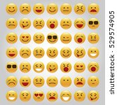 set of emoticons  icon pack ... | Shutterstock .eps vector #529574905