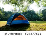 tent in spring forest   Shutterstock . vector #529577611