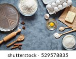 baking ingredients for homemade ... | Shutterstock . vector #529578835