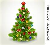 christmas fir tree. | Shutterstock . vector #529580881