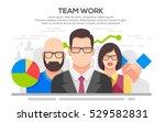 teamwork. business concept.... | Shutterstock .eps vector #529582831