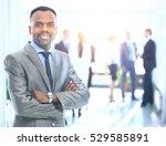 portrait of a successful... | Shutterstock . vector #529585891