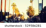 hollywood boulevard at sunset ... | Shutterstock . vector #529586281