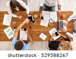 group of busy business people... | Shutterstock . vector #529588267