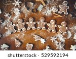 Christmas Cookies On A Dark...