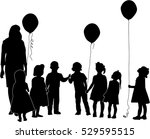 illustration with children and... | Shutterstock .eps vector #529595515