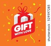 vector logo gift | Shutterstock .eps vector #529597285