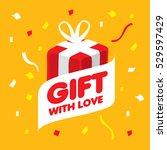 vector logo gift | Shutterstock .eps vector #529597429