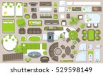 icons set of interior  top view ... | Shutterstock .eps vector #529598149