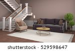interior with sofa. 3d... | Shutterstock . vector #529598647