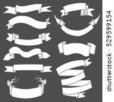 vector set of white blank... | Shutterstock .eps vector #529599154